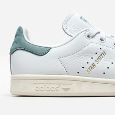 NEW IN! The white and vapour steel Adidas Stan Smith is now available! A fresh, modern update to the Stan Smith, these shoes are made from super soft, premium tumbled leather. A vintage golden Adidas logo nestled between the second and third perforated 3-Stripes mimics the original Stan Smith. #SupplyingGirlsWithSneakers