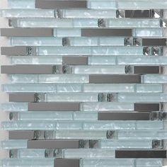Stainless Steel Tile Backsplash Kitchen Glass Tiles Glass Mosaic Bathroom Tiles Modern Bathroom Tile