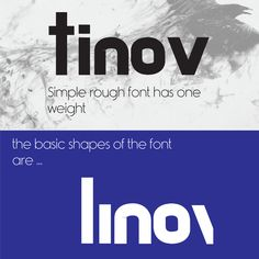 Tinov is a simple rough font that is based on 5 basic shapes only. Retro Font, Basic Shapes, Font Free, Fonts, Typography, Graphic Design, Fresh, Times, Designer Fonts