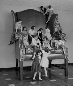 Kids on a chair Retronaut   Retronaut - See the past like you wouldn't believe.