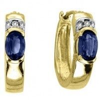 RMC Worldwide Ladies Sapphire and Diamond Earrings [ER6823SW]