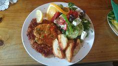 Schnitzel....  Very yummy