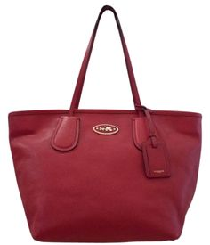 ec8cd120183 Coach Taxi Red Saffiano Leather Tote 53% off retail