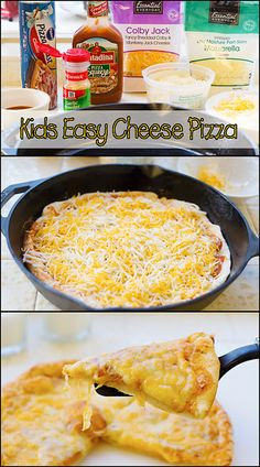 "Cooking with kids is fun and they'll enjoy making this ""Kids Easy Cheese Pizza"" with you!   www.joyineveryseason.com"