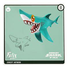 Concept #sharkarium card: Felix!