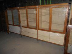 tka 3 oude laboratorium kasten met legplaten pst 350 euro