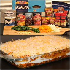 Mexican Lasagna. TO. DIE. FOR. Thought this was more of a din er dish. Don't get me wrong. It was freaking delicious! More of a dip in my opinion, though, but definitely good!