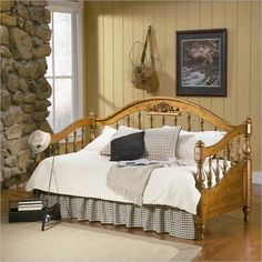 Coaster Wood Natural Brown Finish Daybed #Coaster