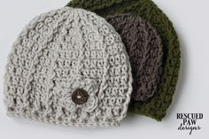 Check out what @rescuedpaw made using our Vanna's Choice yarn. These hats are great for those blustery March days.