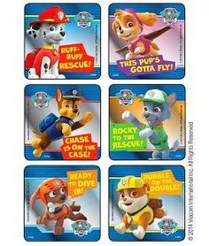 Paw Patrol Party favor stickers, rewards, diy craft projects, favor bag seals.