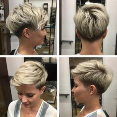 10 Good Looking korte kapsels die jij vast heel erg leuk gaat vinden! – Kapsels … 10 Good Looking short hairstyles that you are sure to love! Short Sassy Haircuts, Cool Short Hairstyles, Undercut Hairstyles, Trending Hairstyles, Pixie Hairstyles, Undercut Pixie, Female Hairstyles, Pixie Haircuts, Pixie Haircut For Round Faces