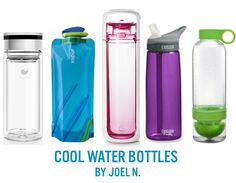 5 great water bottles to cool you down after your healthy #family workout! #fitness