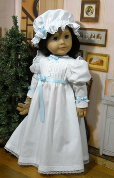 """Holiday gown in Victorian Style for 18"""" American Girl dolls by SugarloafDollClothes"""