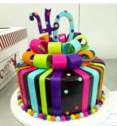 Best Birthday Cake Ideas For Teens Neon Sweet 16 70 Ideas Neon Birthday Cakes, Birthday Cakes For Teens, 13th Birthday Parties, Birthday Cupcakes, Birthday Ideas, Colorful Birthday, Birthday Celebration, 40th Cake, 16 Cake