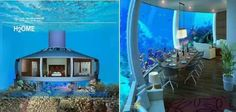 An American Company builds these underground homes on Request. Its like an underground Submarine made of Glass! Would you want a home like this? YES PLEASE!!