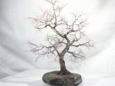 Copper wire tree - Bonsai style - moyogi - informal upright
