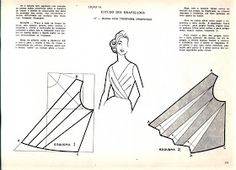 Sewing pattern for pleated top. Sewing pattern for pleated top. Techniques Couture, Sewing Techniques, Pattern Cutting, Pattern Making, Dress Sewing Patterns, Clothing Patterns, Skirt Patterns, Coat Patterns, Blouse Patterns