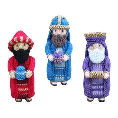 (6) Name: 'Knitting : Nativity - The Three Wise Men