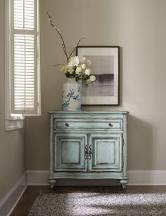 Hooker Furniture One Drawer Blue Two Door Chest 5494 85001 Ltbe