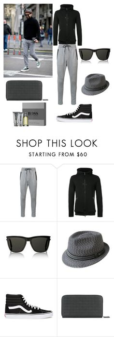 """Spring collection"" by edin-jusufovic ❤ liked on Polyvore featuring Zanerobe, Roar, Yves Saint Laurent, Bailey, Vans, Salvatore Ferragamo, HUGO, men's fashion and menswear"