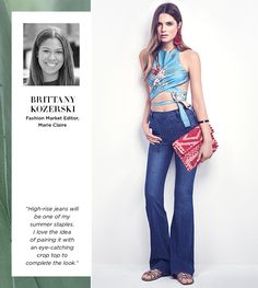 """Trendsetter Top Picks: """"High-rise jeans will be one of my summer staples. I love the idea of pairing it with an eye-catching crop top to complete the look."""" - Brittany Kozerski"""