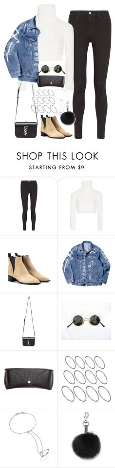 """Untitled#3745"" by fashionnfacts on Polyvore featuring AG Adriano Goldschmied, Calvin Klein Collection, Acne Studios, Yves Saint Laurent, H&M, ASOS, Bliss Lau and Rebecca Minkoff"