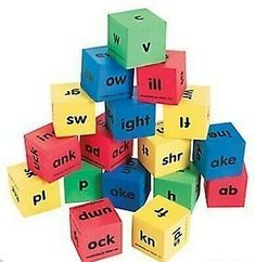 Ad - Fun Express Reading Dice, Word Family Dice, Phonics Game #PhonicsGamesOnline Teacher Supplies, Classroom Supplies, Kids Learning Activities, Learning Tools, Phonics Games Online, Math Flash Cards, Phonics Reading, Reading Games