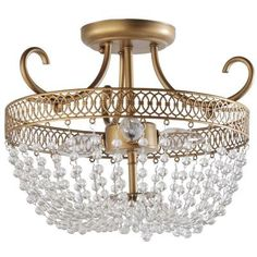 Light 27 in. Semi Flush Mount HD13811SFCHPC at The Home Depot