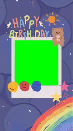 Birthday Post Instagram, Overlays Cute, Happy Birthday Template, Polaroid Template, Instagram Frame Template, Cute Pastel Wallpaper, Powerpoint Background Design, Photo Collage Template, Cute Frames