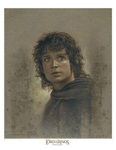 Very cool art of Frodo Baggins by Jerry Vanderstelt