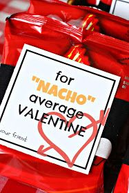 Just Another Day in Paradise: Nacho Average Valentines: Printable