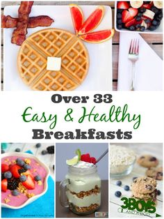 Make serving a healthy breakfast a snap with these easy healthy breakfast recipes!