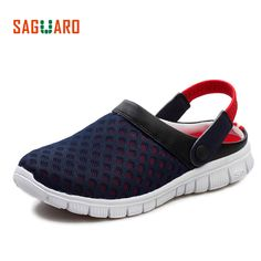 e231bd5664d74 Men Summer Slippers Shoes 2017 New Breathable Mesh Slip-on Beach Sandals  Unisex Male Outdoor Casual Flip Flops zapatillas hombre