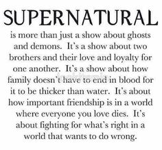 Supernatural is all this and more!
