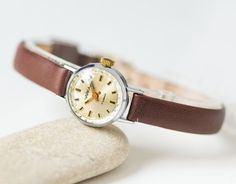 Minimalist Women Watch Seagull Tiny Lady Wristwatch by SovietEra