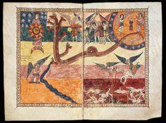 """De la trentena de còpies que es van fer dels """"Comentaris a l'Apocalipsi"""" escrits pel Beat de Liébana al segle VIIIè, la que es conserva a la Catedral de Girona és una de les més interessants. I de raons n'hi ha un bon grapat: per l'elevat nombre de pàgines il·lustrades, per la gran qualitat de les miniatures, pel seu estil """"trencador"""" que anuncia l'arribada del romànic i perquè sabem que l'il·lustrador, en aquest cas, va ser il·lustradora. Ende, la monja il·lustradora"""