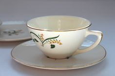 Vintage Edwin Knowles Forsythia China Cup and by ThumbprintVintage 1950s