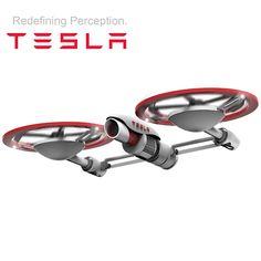 Tesla Drone Concept Boasts Innovative Design, 30MP 4K Camera & 60 Minute Flight Time