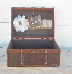Wedding Trunk Card Holder Western Wedding by MyMontanaHomestead, $42.00