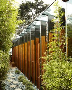 modern exterior by Dirk Denison Architects