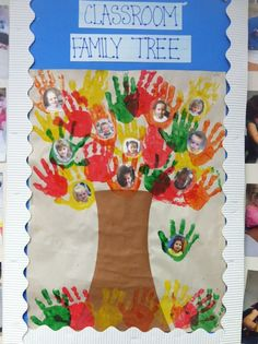 Classroom Family Tree Bulletin Board - Complete's All About Me theme and Fall theme! All About Me Preschool Theme, All About Me Crafts, Preschool Themes, Preschool Activities, Preschool Family Theme, All About Me Activities For Preschoolers, All About Me Eyfs, Preschool Attendance Ideas, Bulletin Board Tree