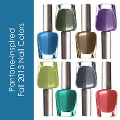 Fall 2013: Pantone-Inspired Nail Colors -- Nail polishes in all the hottest colors for this fall, including some not-yet-released colors! #divinecaroline #nails #nailpolish #nailcolors #fall #fallcolors #falltrends