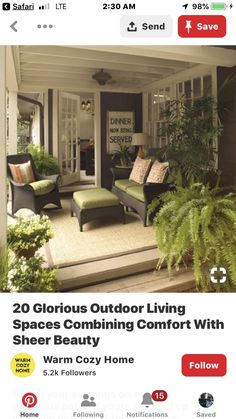 Sheer Beauty, Outdoor Furniture Sets, Outdoor Decor, Cozy House, Warm And Cozy, House Warming, Outdoor Living, Living Spaces, Patio