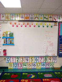Classroom Tour :) like the magnetic shelves on the white board!