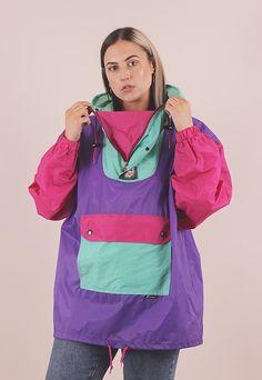 K Way Vintage, Rain Wear, Vintage Jacket, Windbreaker Jacket, Color Blocking, Hot Pink, Rain Jacket, Asos, Childhood
