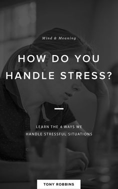 How do you handle stress? Way To Make Money, Make Money Online, Stress Management Techniques, Stress Less, Destress, Coping Skills, Ted Talks, Tony Robbins, How To Stay Motivated