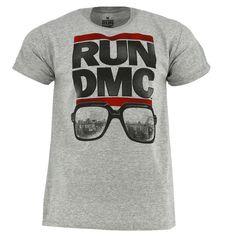 cf7d650decd Run DMC Glasses NYC Grey T-shirt Official Licensed Music