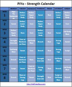 PiYo-Strength-Calendar
