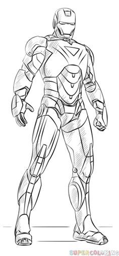 Free iron man colouring pictures to print for kids. superheroes iron man colouring pictures to print Avengers Drawings, Drawing Superheroes, Drawing Cartoon Characters, Character Drawing, Cartoon Drawings, Superhero Sketches, Comic Drawing, Avengers Coloring Pages, Superhero Coloring Pages