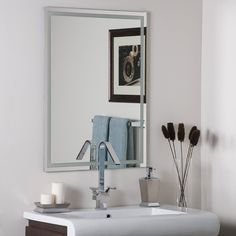 Decor Wonderland Frameless Etch Mirror >>> Haven't you heard that you can find more discounts at this image link : Decor Mirrors